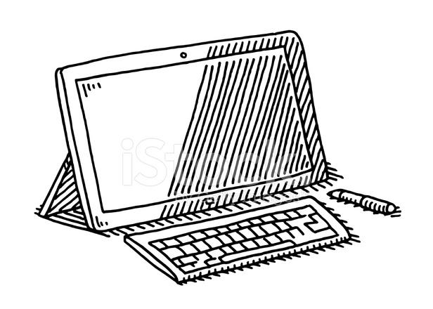 40670780-tablet-computer-keyboard-pen-drawing